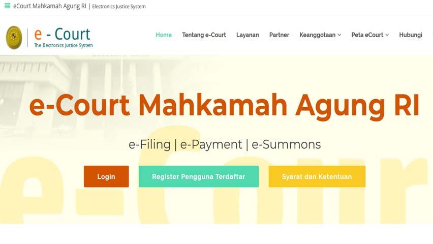 Pendaftaran Melalui E-court